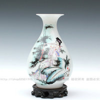 Jingdezhen ceramics powder enamel vase Small vase classical furnishing articles