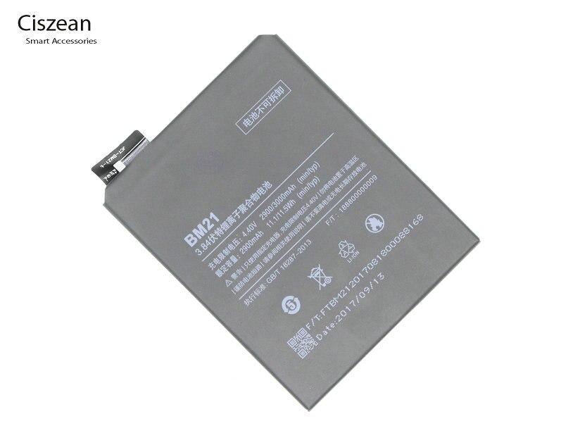 Ciszean Replacement-Battery Mi-Note Mobile-Phone Xiaomi 2900mah/11.1wh 21 For 3GB 5pcs/Lot