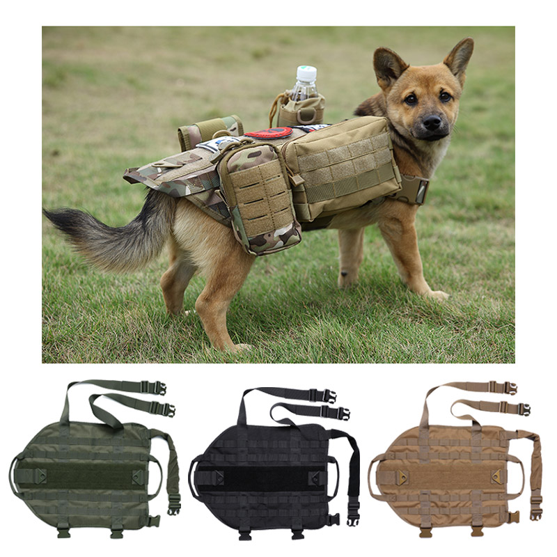 Tactical Dog Harness Working Hunting Vest Military K9 Water Resistant Harness Large And Medium Dog Outdoor Protective Clothing