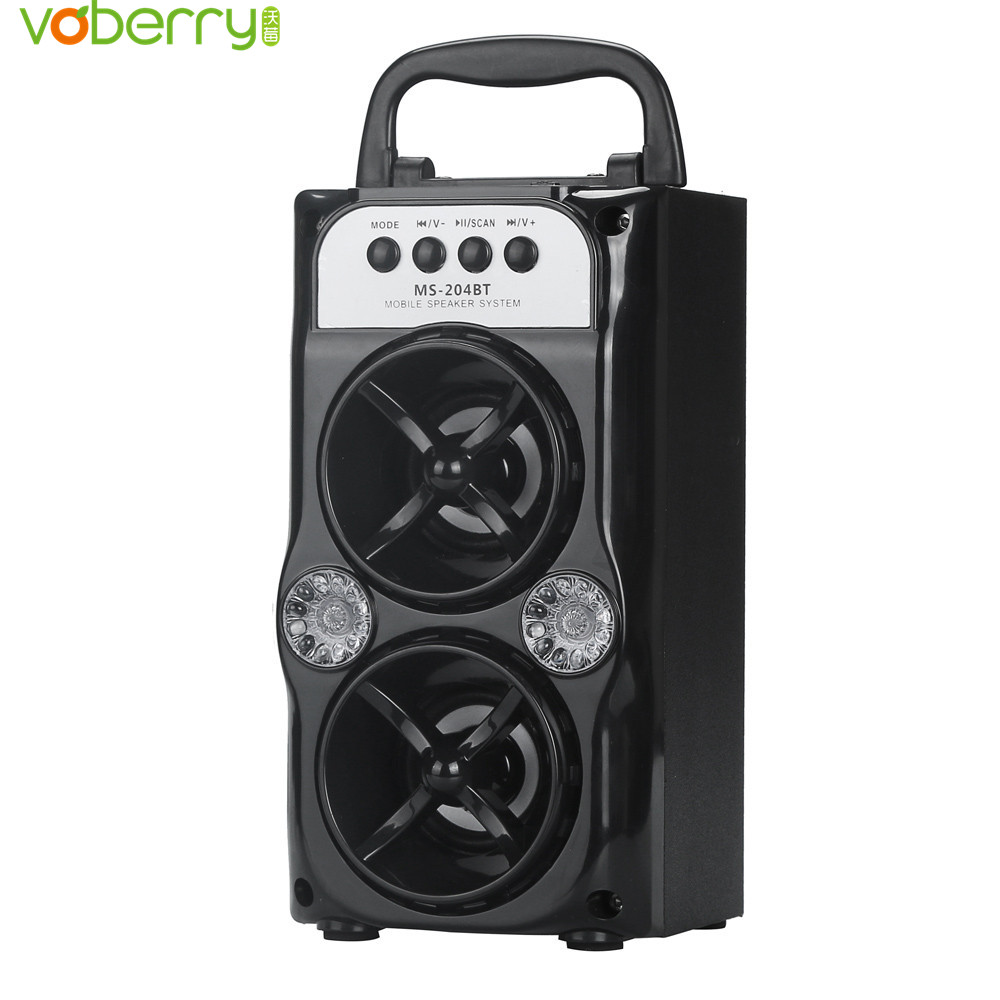 Double Horn Multimedia Bluetooth Wireless Portable Speaker Super Bass LED color light Music Speakers With USB/TF/AUX/FM Radio