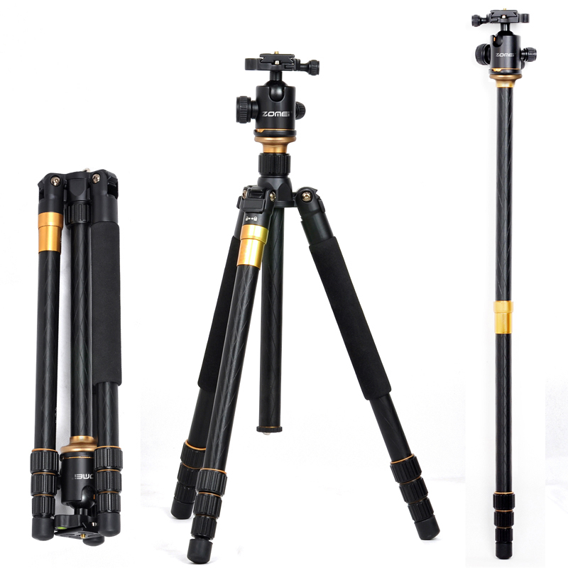 pro Q999 SLR camera tripod photography package q-999 tour portable digital tripod +Ball Head Wholesale free shipping pro q308 aluminum portable digital photography tripod with ball head