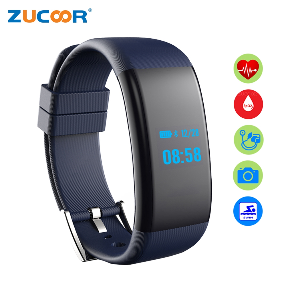 Waterproof Smart Bracelet Band Wristband Blood Pressure Oxygen Heart Rate Monitor Rb01 Swim Bluetooth Camera For Ios Android Men In Wristbands From
