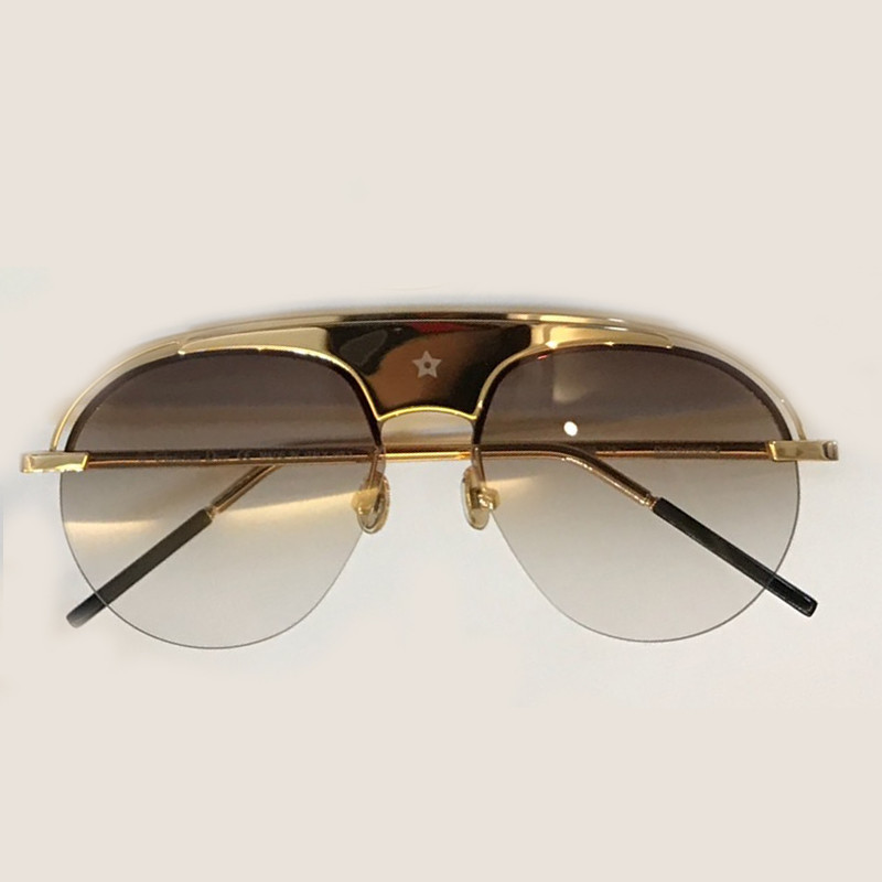 Classic Luxury Brand Designer Round Sunglasses Metal Frame Shades for Women Mens Oculos De Sol Feminino with Original Box