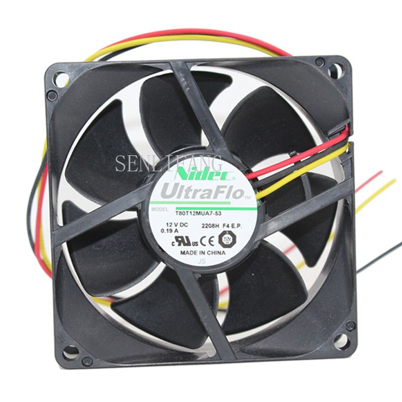 Original  T80T12MUA7-53 DC12V 0.19A For EMP-270 280 Projector Cooling Fan