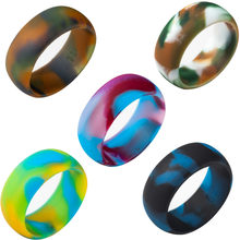 Силиконовое кольцо 9 мм размер 5 15 резиновое разноцветное гипоаллергенное