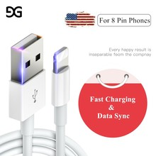3m 2m 1m 0.25m USB Date Cable For iPhone Fast Charging Cable For i7 8 Plus 6 6S PLUS X XR XS Max 11 Pro Wall Charger Sync Cables