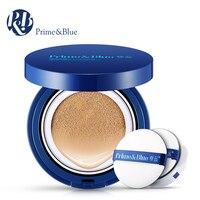 PRIME BLUE Brand Men Air Cushion BB Cream Concealer Moisturizing Foundation Makeup Bare Strong Whitening Sunscreen
