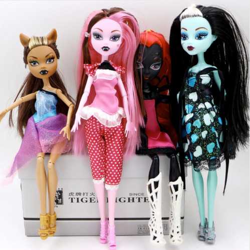 SERMOIDO Fasion Monsters Dolls Draculaura/Clawdeen Wolf/ Frankie Stein / Black WYDOWNA Spider Moveable Body Girls Toys Gift D3
