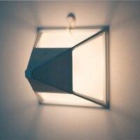 Aluminum Night Lamp Pyramid Creative Usb Charging energy saving Led Desk Night Light Moon Lamp Hanglamp Baby Lamp Kid Gift