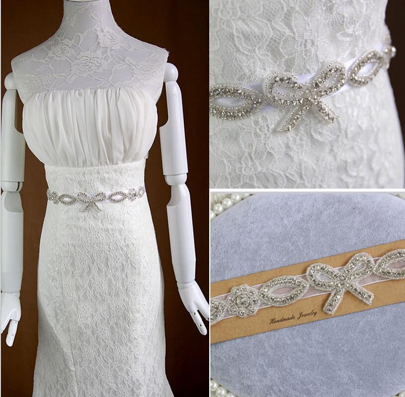2015 new design bridal belt wedding formal dress