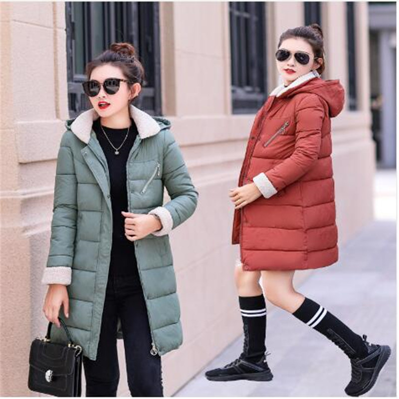 Winter Women Jacket Medium Long Hooded Parkas Thickness Large Raccoon Fur Collar Duck   Down     Coat   Female Snow Outerwear