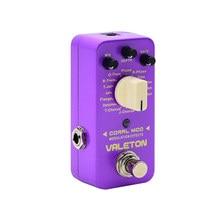 Valeton Coral Mod 16 типов Мульти педаль эффектов цифровой модуляции гитары педаль эффектов CME-1