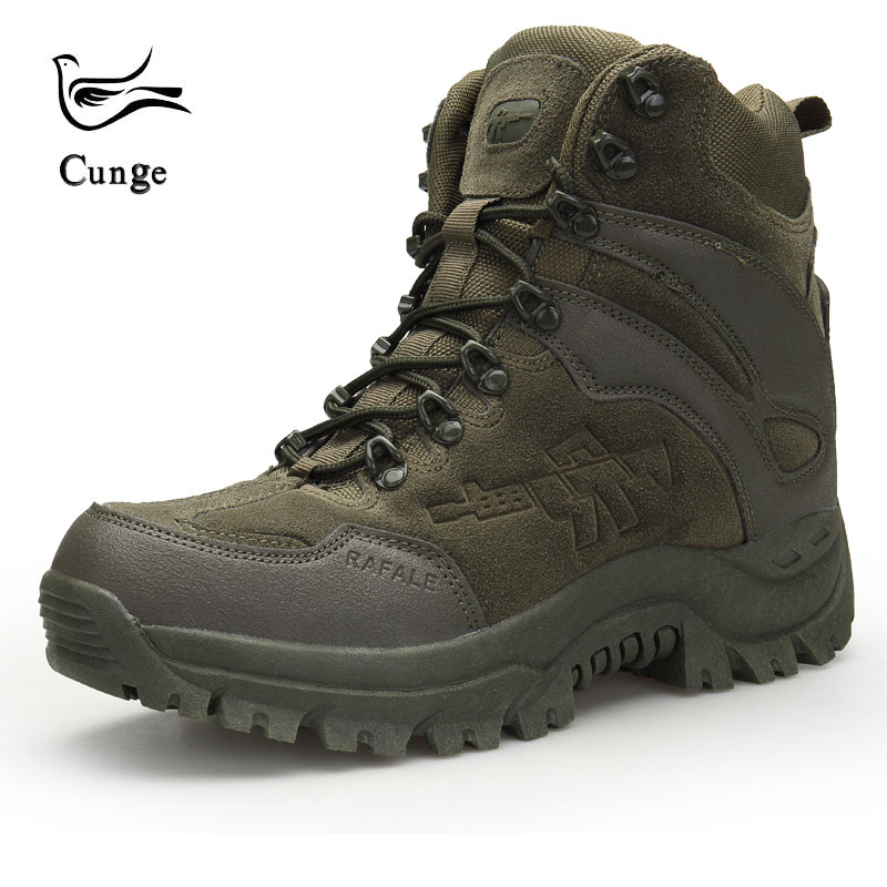 Spring and Autumn Army Outdoor Hiking Shoes Men s Shoes Breathable Non slip Walking Shoes Tactical