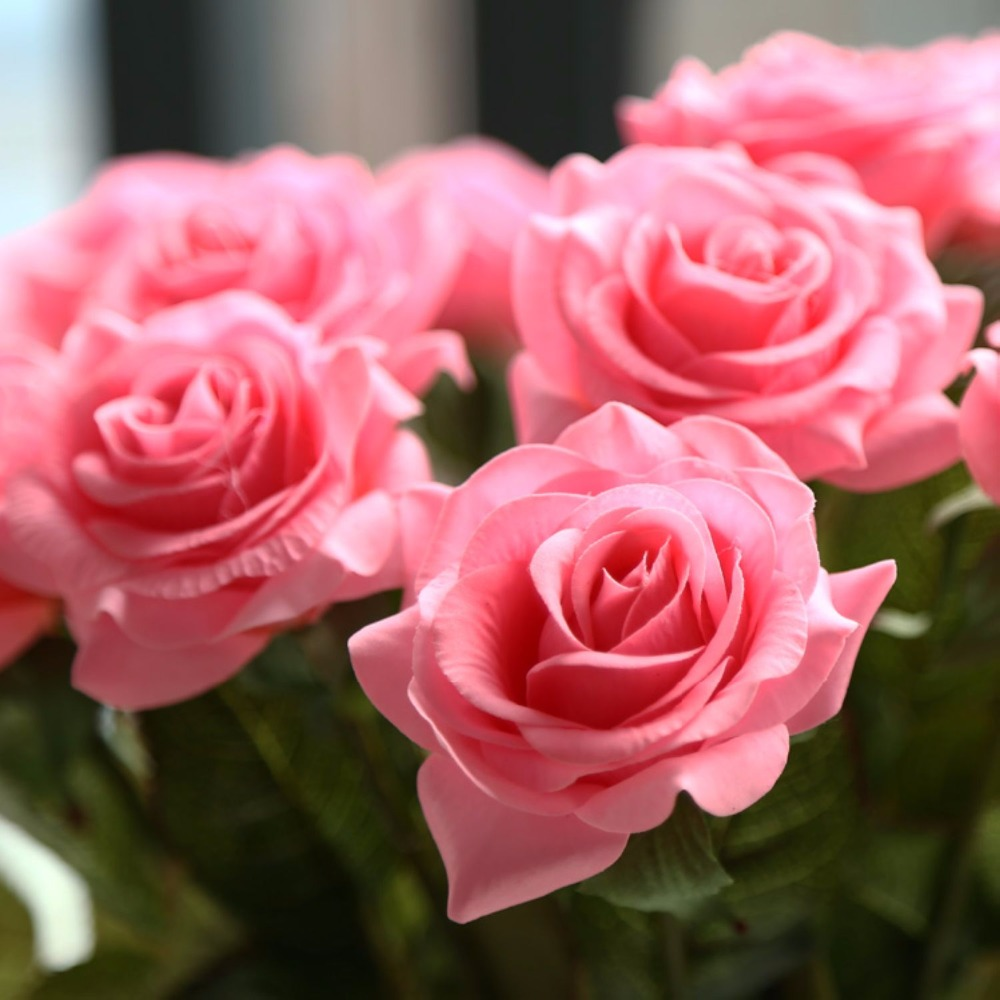 24pcs high quality latex real touch rose decor rose for Decoration or rose