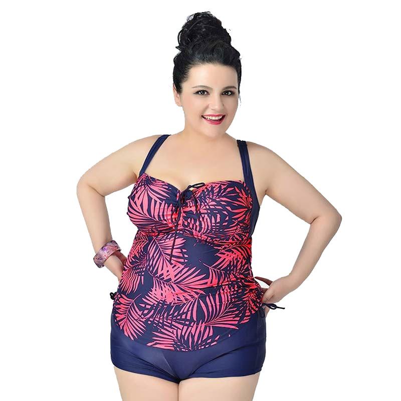 Plus Size Two-piece Bikini Set Super Female Swimwear Beach Swimsuits of large sizes Women's Wear big size outdoor indoor Dress