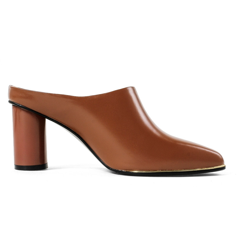 RIBETRINI 2018 musim panas merek kulit sapi wanita kulit mules insole - Sepatu Wanita - Foto 4