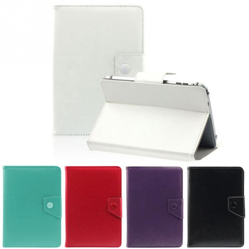 цена на 2018 FREE SHIPPING PU Leather Stand Cover Case For 7 Inch Tablet PC Protective Case White Black Color 7''