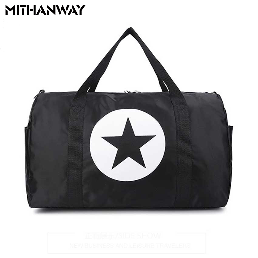 Gran capacidad de cinco puntas Star Women Men Duffel Bag - Bolsas de deporte