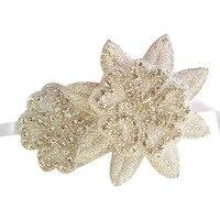 Модные элегантные невесты Обувь для девочек Украшенные стразами в виде звезд волос Группа повязка для выпускного свадебные аксессуары
