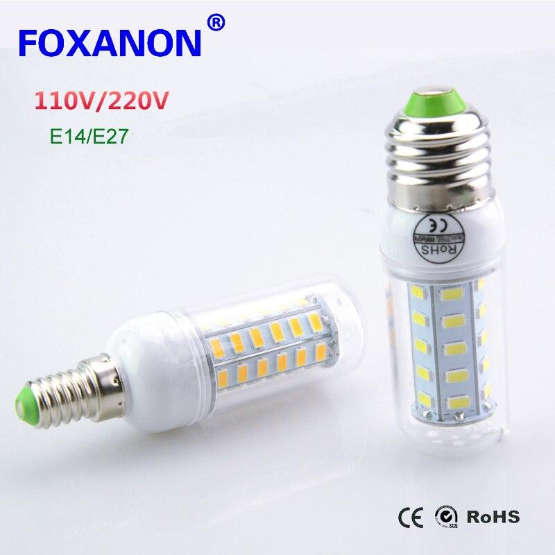 Lampada led lamp 110v 127v 220v e27 e14 led light 5730 smd for Lampada led e14