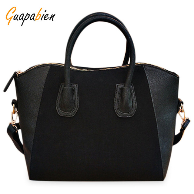 Guapabien Fashion 2017 Women's Nubuck Synthetic Leather Smile Hand Bag Cross-body Shoulder Bag High Quality OL Dress Work Tote