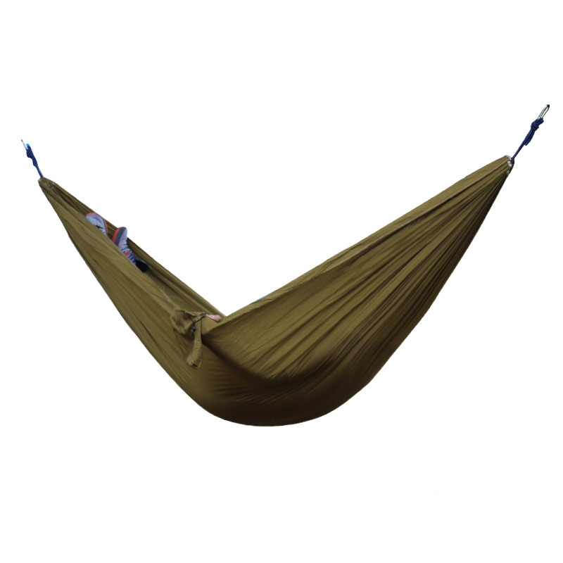 2 People Portable Parachute Hammock for outdoor CampingCamel 270*140 cm 2 people portable parachute hammock outdoor survival camping hammocks garden leisure travel double hanging swing 2 6m 1 4m 3m 2m