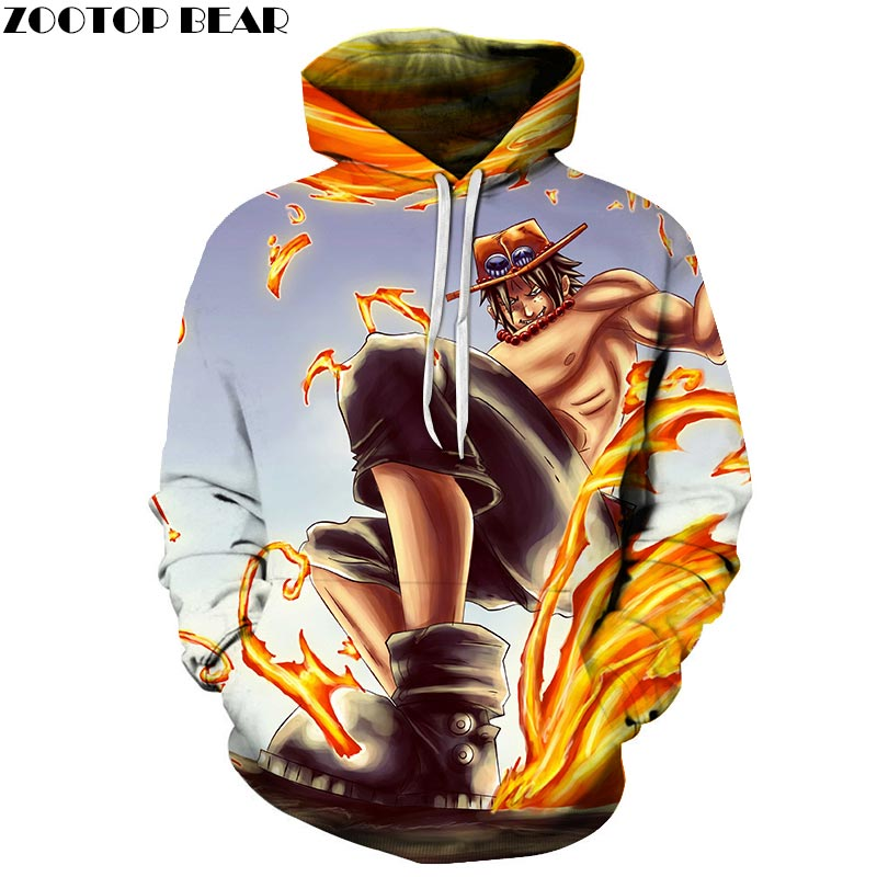 Cool One Piece 3D Print Hoodies Men Women Sweatshirts Hooded Tracksuits Pullover Streetwear Spring Jacket ZOOTOP BEAR Drop Ship