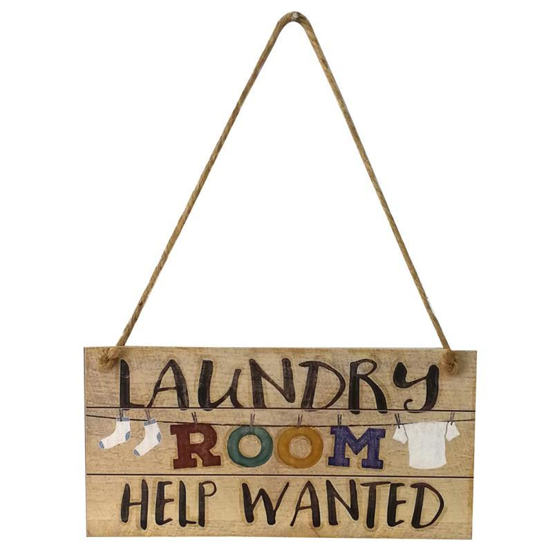Laundry Room помочь хотел Стене Табличка Знак висячем дверь знак Декор Орнамент