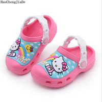New Fashion Cartoon Pattern Children Sandals Slipper S Boys Girls Summer Shoes Kids Cute Beach Non