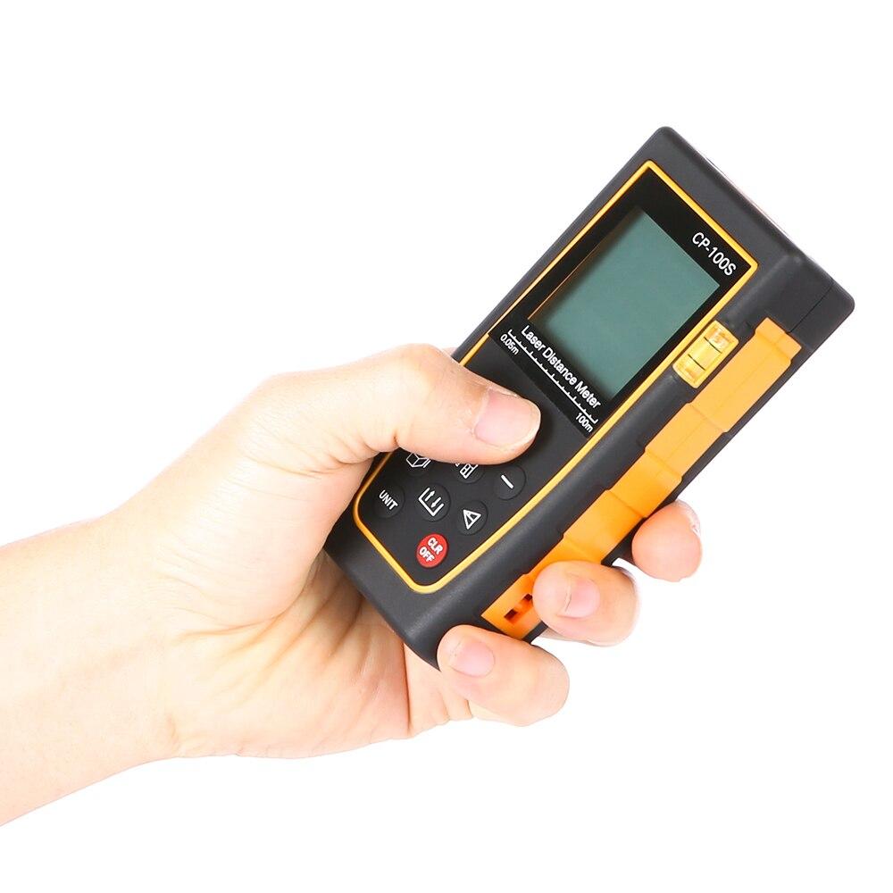 Портативный 100 м Ручной цифровой лазерный дальномер Диапазон измерения искатель Diastimeter электронный Весы лазерной Весы черный Цвет