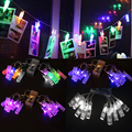 1.2m 10 LED Battery Clip String Lights Christmas New Year Party Photo Peg Decor