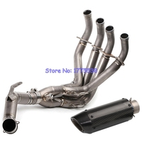 PHULEOVEO Carbon Fiber Z900 17 18 Motorcycle Exhaust Muffler Full System Front Header Pipe Titanium Alloy Motorbike Escape