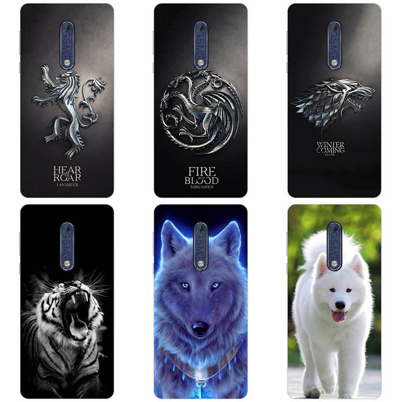 Lovely Cartoon Phone Cases For <font><b>Nokia</b></font> <font><b>5</b></font> <font><b>TA</b></font>-<font><b>1053</b></font> Nokia5 <font><b>5</b></font>.2