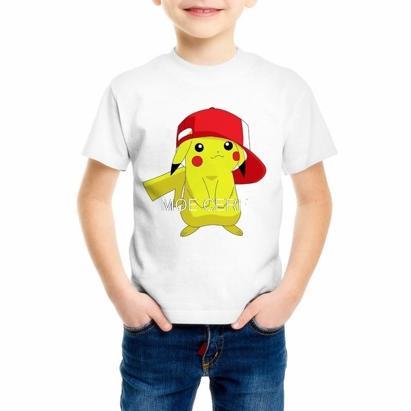 Pokemon Pikachu T Shirt For Boy/Girl T-shirts 3D Fashion Children's Summer Casual Tees Tops Anime Cartoon Clothing C20-24
