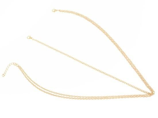 HTB1g73yGXXXXXXOXpXXq6xXFXXXT Boho Style Two-Layer Gold Head Chain Jewelry
