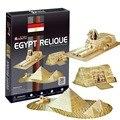 Brinquedo do enigma 3d modelo de papel diy presente criativo antigo domínio egito pirâmides egípcias relique tanto para crianças e adultos