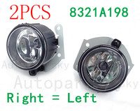2PCS High Quality For Mitsubishi Lancer Sportback A Pair Set Fog Light 8321A198 8321A235 Right + Left L R Fog Lamps with Bulb