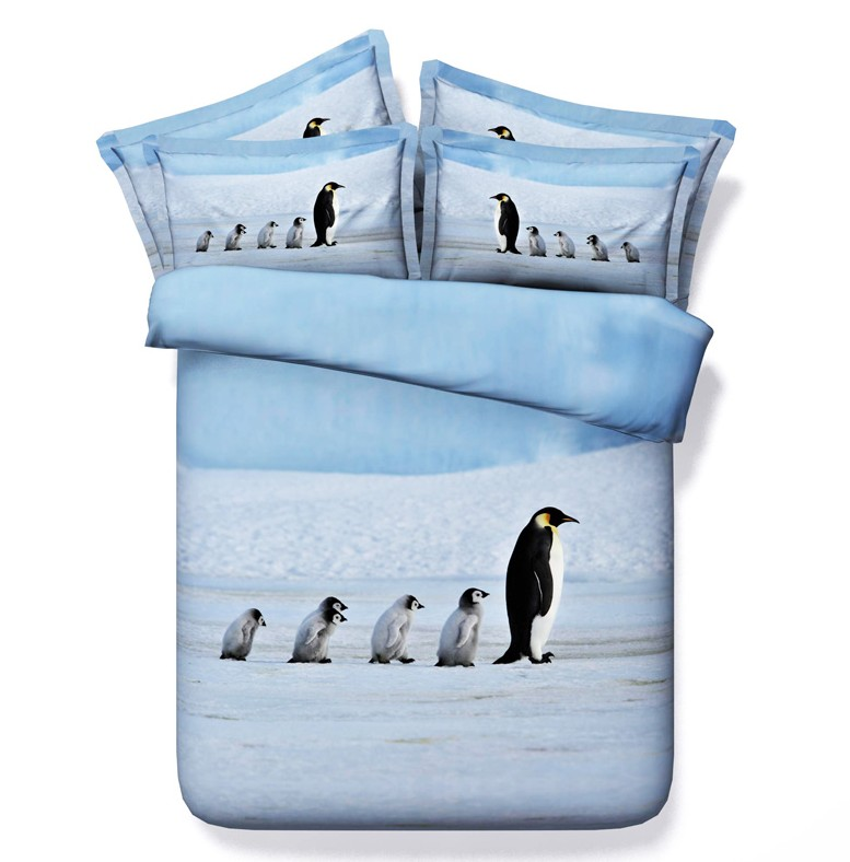 Popular penguin comforter set buy cheap penguin comforter for Housse de couette king size