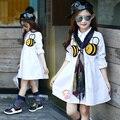 4 5 6 8 10 11 12 13 Año Del Bebé Vestidos de Las Muchachas Niñas Uniforme Escolar Desgaste de la escuela Para Niños de Diseño de Otoño de Manga Larga Ropa de Las Muchachas