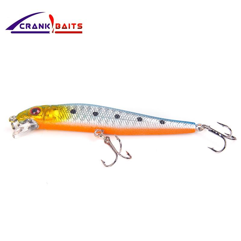 CRANK BAITS Lure Fishing Minnow Crankbait Hard Bait 8 5cm 5 2g Tight Wobbler Jerkbait 5 colors Floating Fish Swimbait Pesca YB26 in Fishing Lures from Sports Entertainment