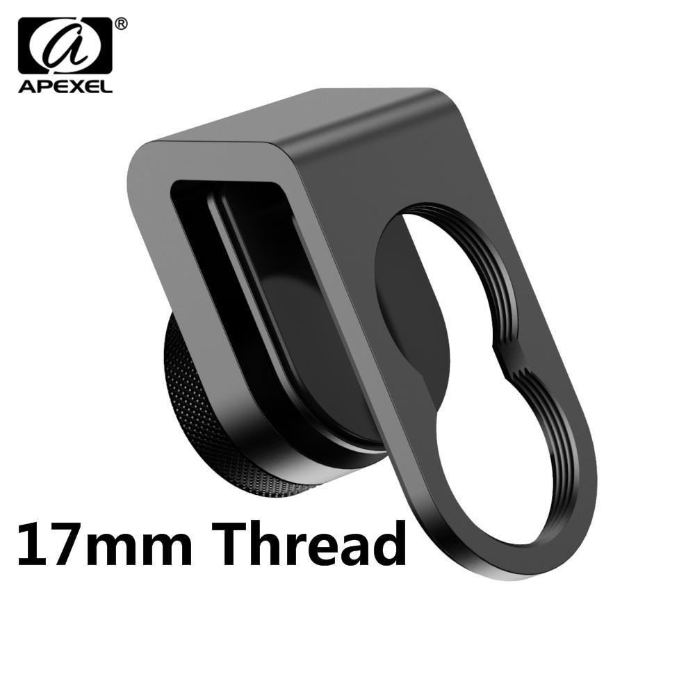 Универсальный зажим APEXEL 17 мм резьба/c-крепление универсальный зажим для объектива телефона APEXEL все смартфон