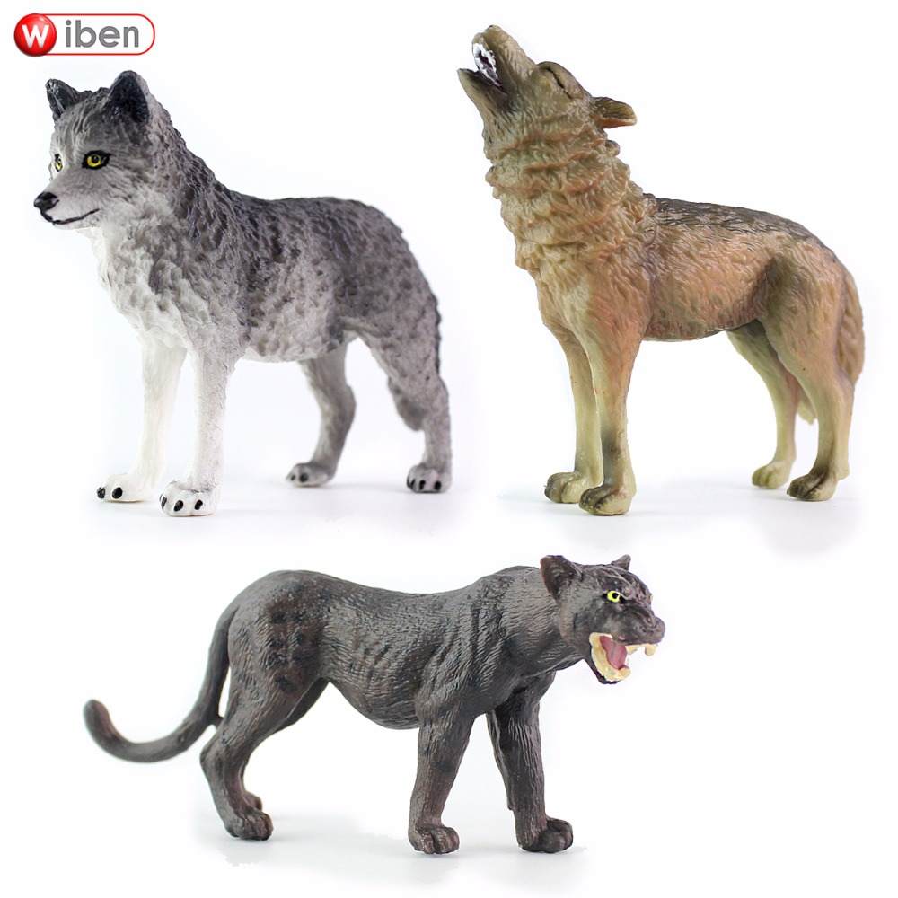 Wiben Wolf Panthers Simulation of Animal Models Action Toy Figures High Quality Collection Boys Gifts wiben animal hand puppet action