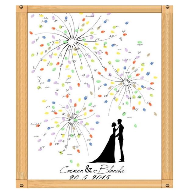 personalized fingerprint wedding guest painting tree wedding fingerprint tree diy wedding signature painting