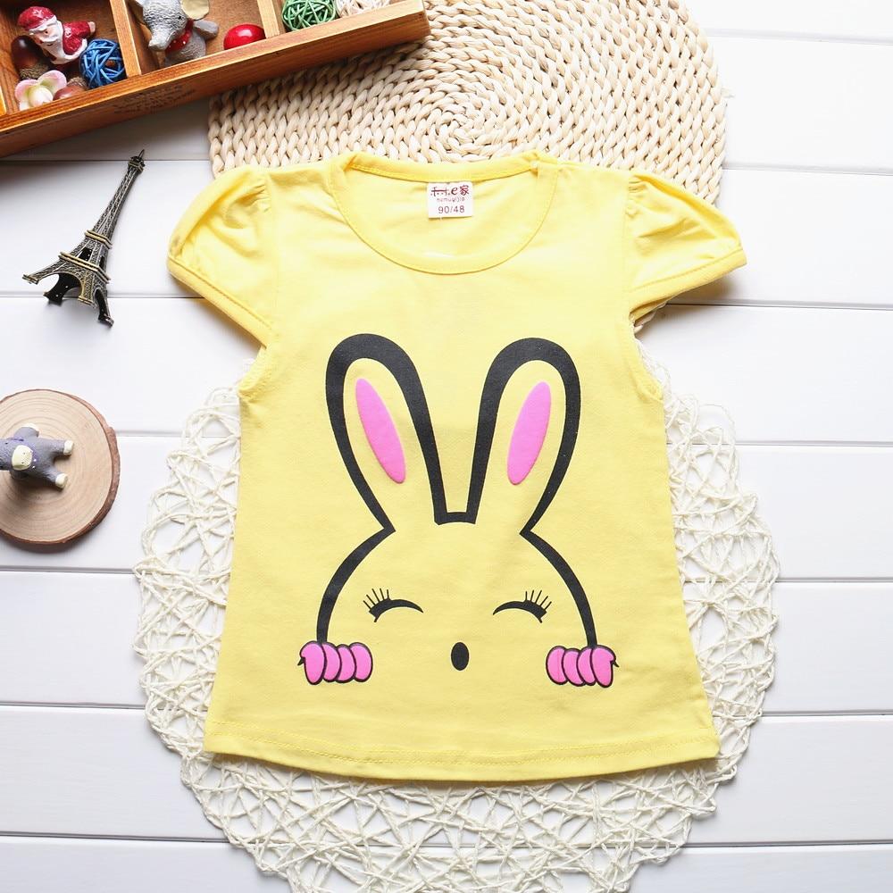 New-2017-Summer-Baby-Girls-Short-Sleeve-T-shirt-Children-Clothes-Kids-Tops-T-Shirts-Cute-bunny-Print-Tees-100-Cotton-HZ2010-2