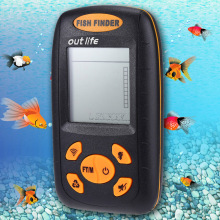Portable Wire Sonar Fish Finder Sensor Echo fishing Sounder Alarm River Lake Sea Deep Fishing Finder Wireless Alarm 100M