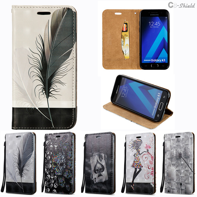 Flip Case for Samsung A 3 320 2017 SM-A320 SM-A320F SM-A320FL Leather Case Phone Cover for Samsung Galaxy A3 2017 A320 A320FL