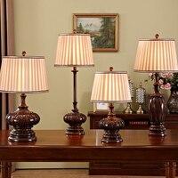 레트로 테이블 램프 패브릭 전등 갓 lamparas 드 메사 조각 수지 책상 조명 홈 조명 데코 luminaria 드 메사|테이블 램프|   -