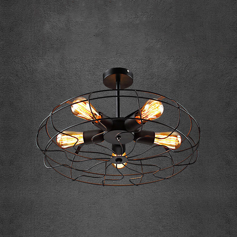 New Vintage 5 heads iron Fan ceiling light loft lustre lamps for home decor restaurant dinning room fixture sitemap 159 xml