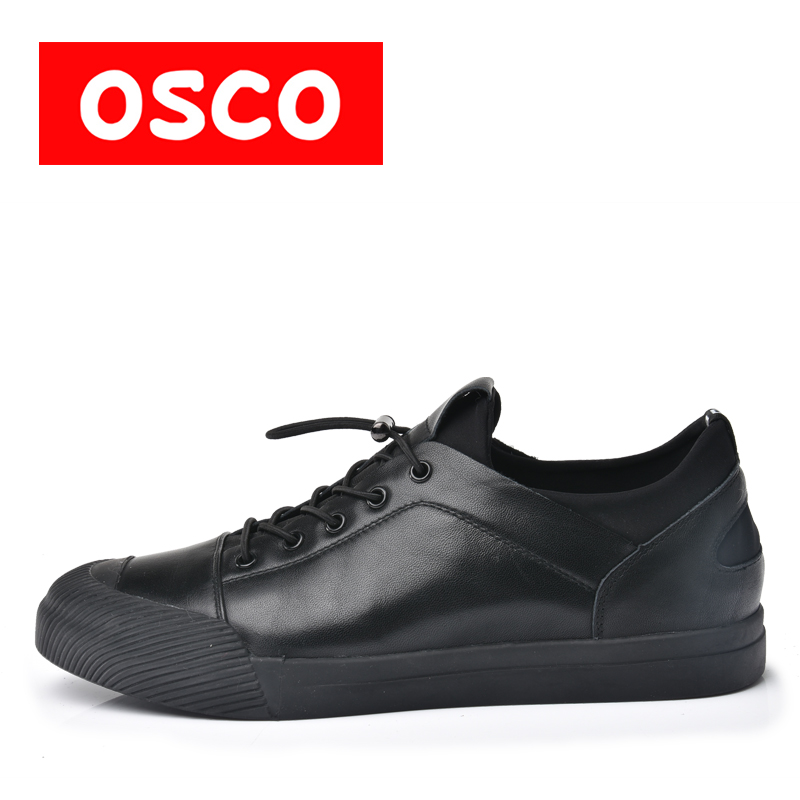 OSCO Factory direct ALL SEASON New Men cow leahter Shoes Fashion Men Sneakers Shoes #A9500-1 classy alloy framed presbyopia reading glasses with protective case 2 50