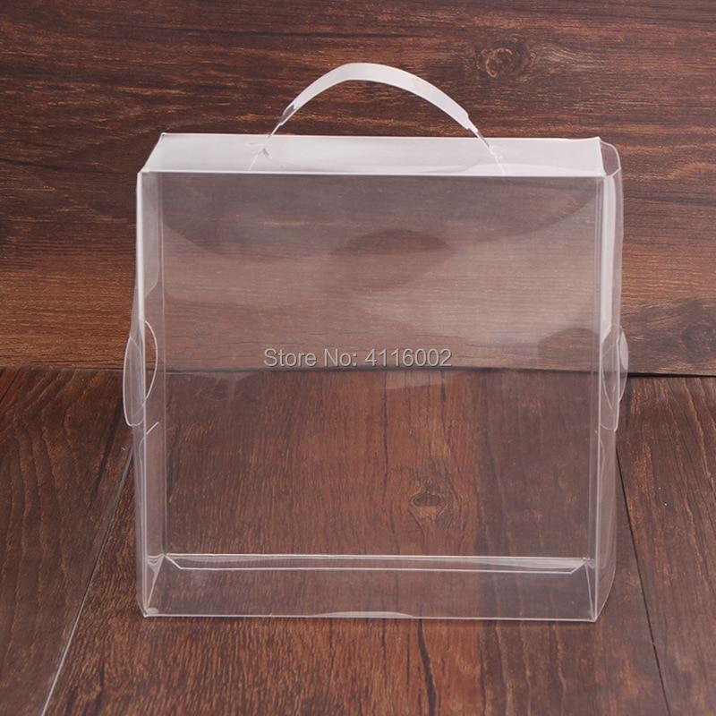 100 ピース/ロットクリア Pvc プラスチックギフトボックス/ベビー靴ディスプレイ収納透明梱包装飾ボックス 12*12*5 センチ  グループ上の ホーム&ガーデン からの ギフトバッグ & ラッピング用品 の中 1